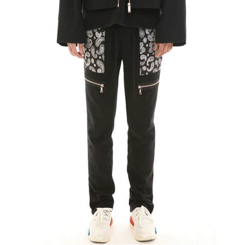 [랑베르시오]Paisley Zipper Pants