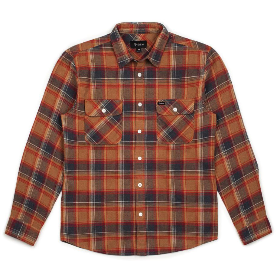 [브릭스톤]BOWERY L/S FLANNEL - NAVY/COPPER