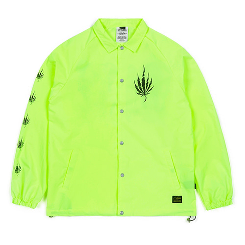 [스티그마]STIGMA DUST OVERSIZED COACH JACKET NEON GREEN