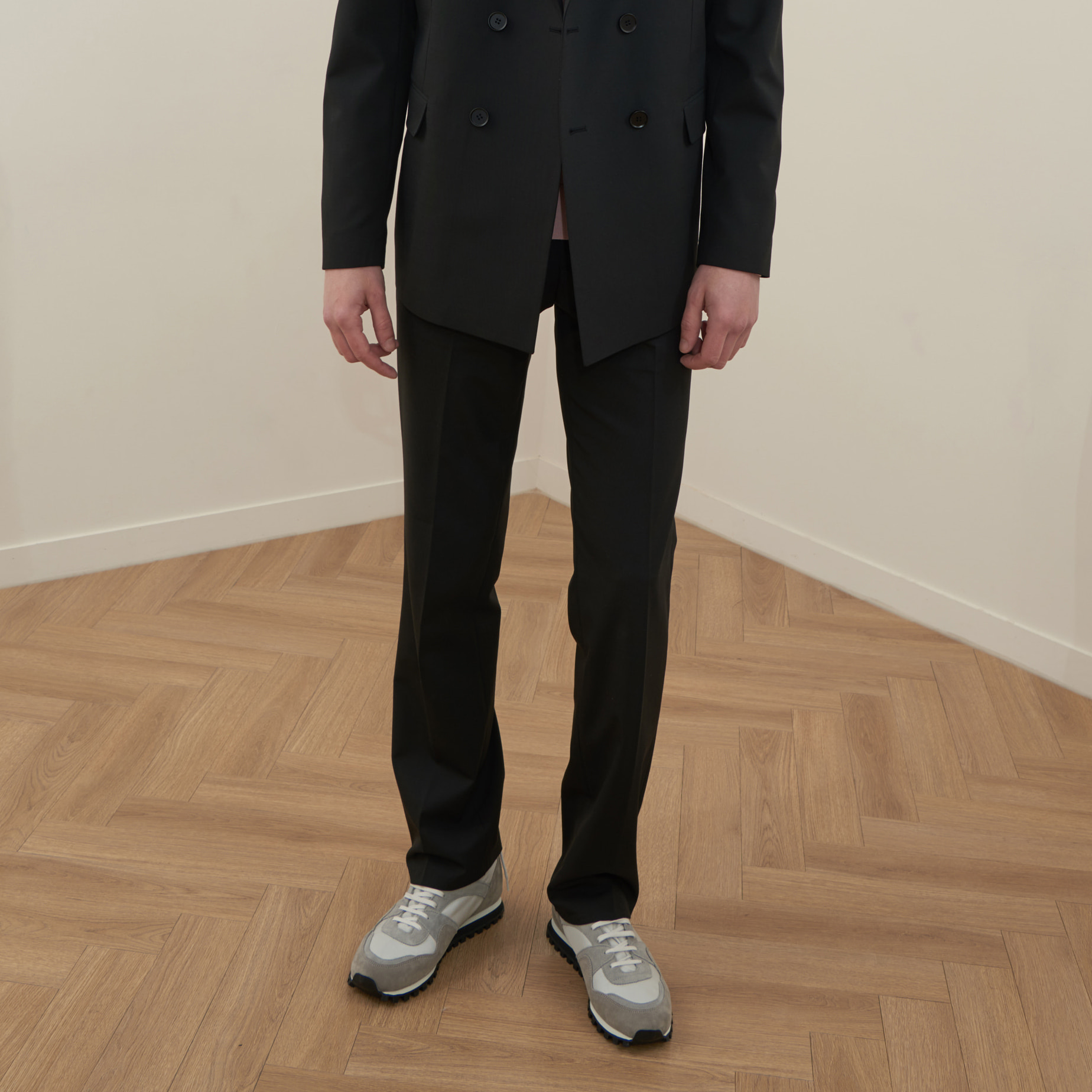 [모노소잉]MONO WOOL SET-UP WIDE TROUSER(BLACK)