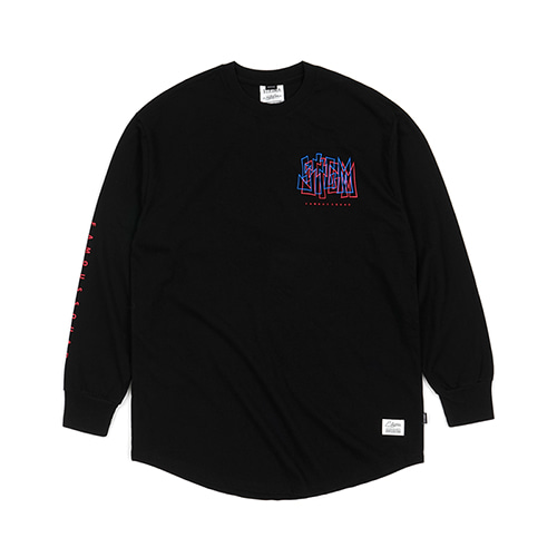 [스티그마]STIGMA PRISM LAYERD LONG SLEEVES T-SHIRTS BLACK