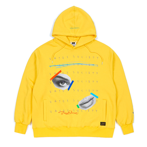 [스티그마]STIGMA EYE HEAVY SWEAT OVERSIZED HOODIE YELLOW