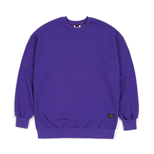 [스티그마]STIGMA BLANK HEAVY SWEAT OVERSIZED CREWNECK VIOLET