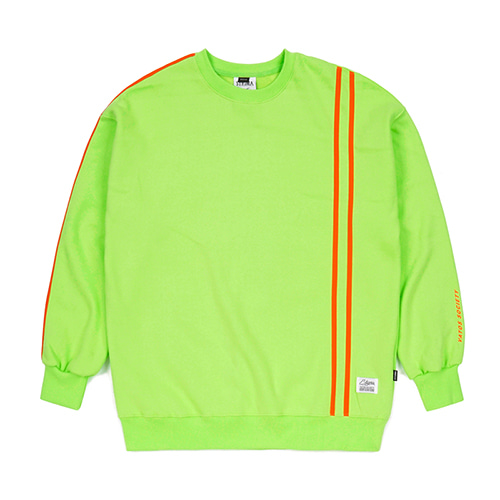 [스티그마]STIGMA LINE SPORTS HEAVY SWEAT OVERSIZED CREWNECK NEON GREEN