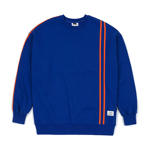 [스티그마]STIGMA LINE SPORTS HEAVY SWEAT OVERSIZED CREWNECK BLUE