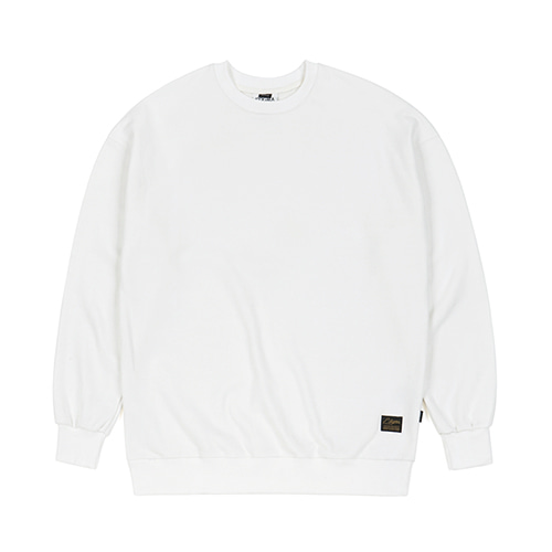 [스티그마]STIGMA BLANK HEAVY SWEAT OVERSIZED CREWNECK IVORY
