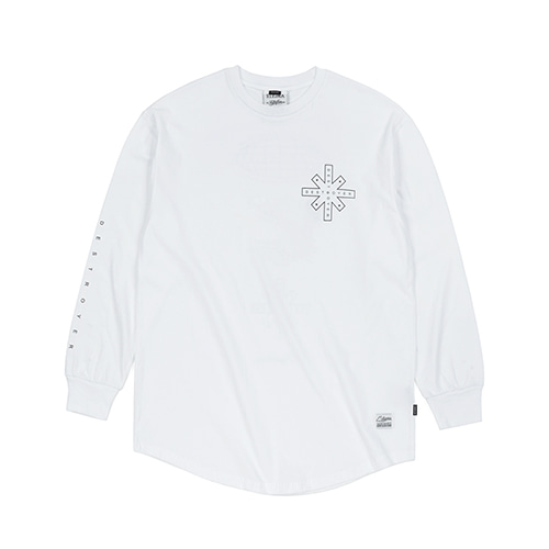 [스티그마]STIGMA DESTROYER LAYERED LONG SLEEVES T-SHIRTS WHITE