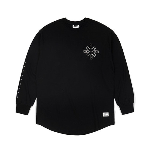 [스티그마]STIGMA DESTROYER LAYERED LONG SLEEVES T-SHIRTS BLACK