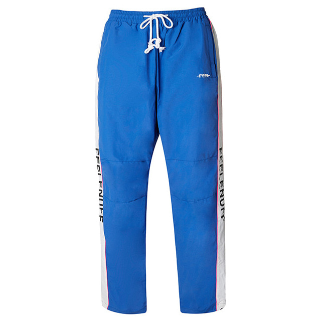 [필이너프]PIPING TRACK PANTS BLUE