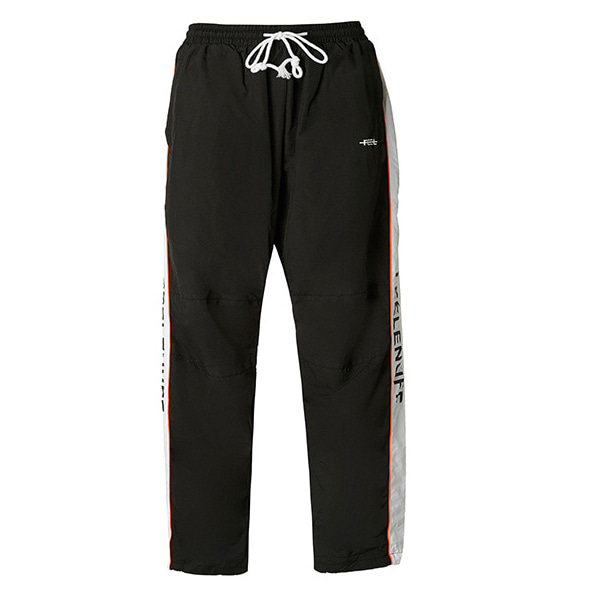 [필이너프]PIPING TRACK PANTS BLACK
