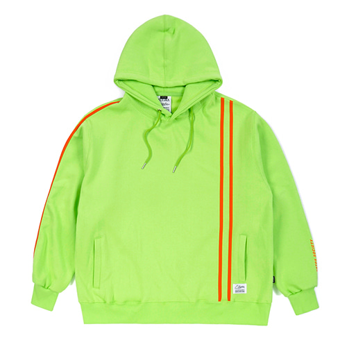 [스티그마]STIGMA LINE SPORTS HEAVY SWEAT OVERSIZED HOODIE NEON GREEN