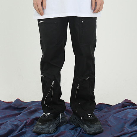 [뉴트럴] Black zipped pants