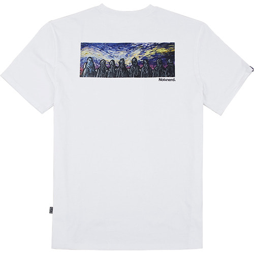 [낫포너드]Distorted Sky T-Shirts - White