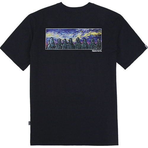 [낫포너드]Distorted Sky T-Shirts - Black
