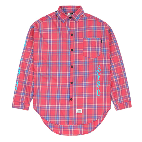 [스티그마]STIGMA WAVE OVERSIZED CHECK SHIRTS PINK