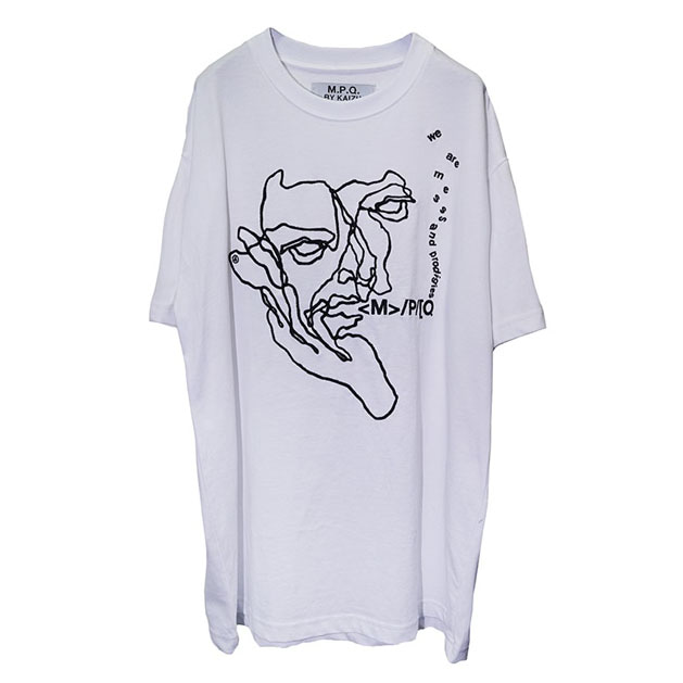 [엠피큐]FISHERMAN CROQUIS_PLAIN TEE (WHITE)
