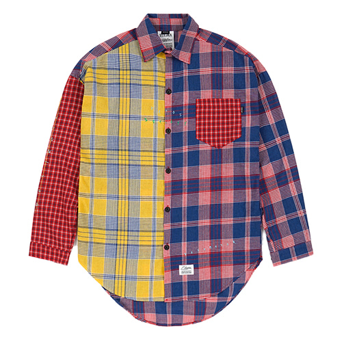 [스티그마]STIGMA MULTI OVERSIZED CHECK SHIRTS RED