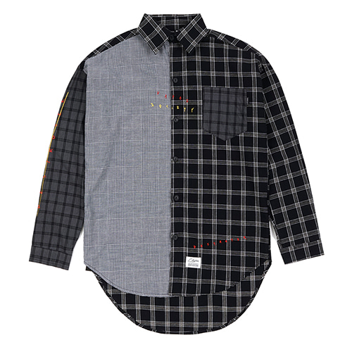 [스티그마]STIGMA MULTI OVERSIZED CHECK SHIRTS BLACK