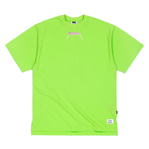 [스티그마]STIGMA RAT FINK OVERSIZED T-SHIRTS NEON GREEN