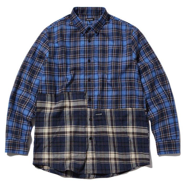 [인사일런스]2 CUT POCKET SHIRT blue