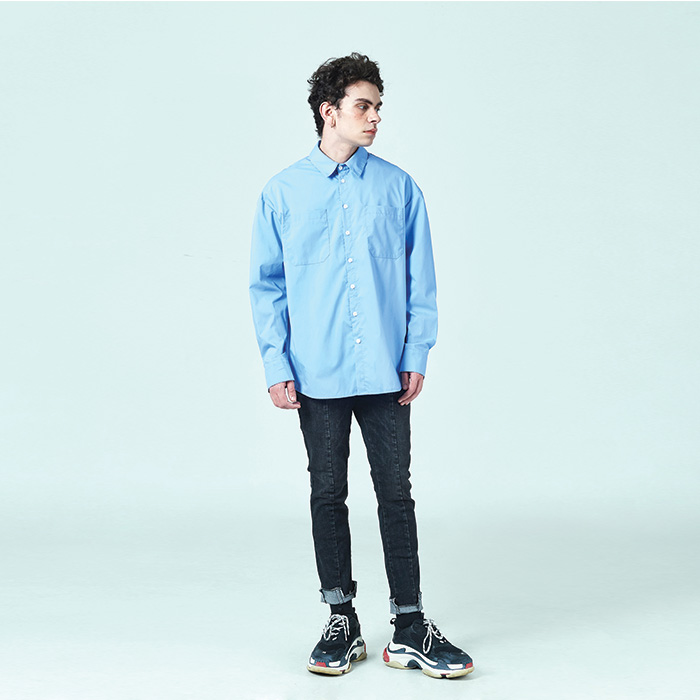[데드엔드] SKY BLUE QUOTE SHIRTS