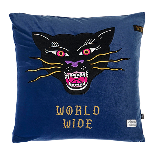 [스티그마]STIGMA BLACK PANTHER VELVET THROW PILLOW BLUE