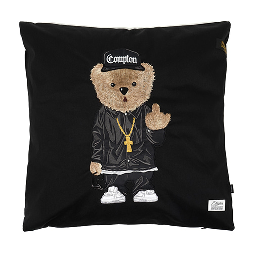 [스티그마]STIGMA COMPTON BEAR THROW PILLOW BLACK