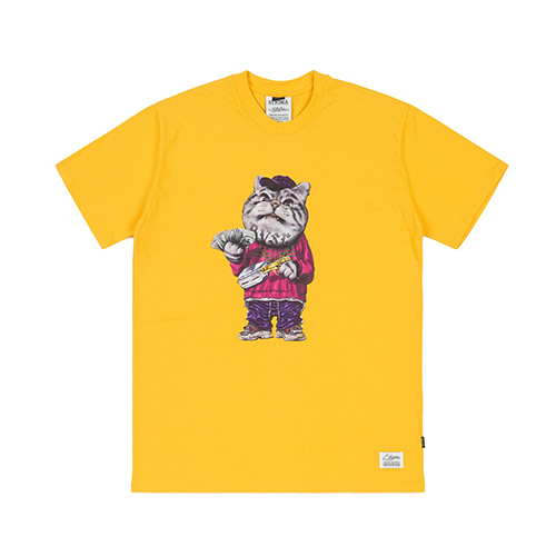 [스티그마]STIGMA CATSGANG T-SHIRTS YELLOW