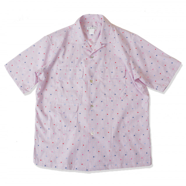 [스웰맙]open collar 3 flap shirts -colored dot-