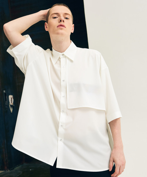 [에드]ADDICTION SHORT SLEEVE SHIRTS WHITE