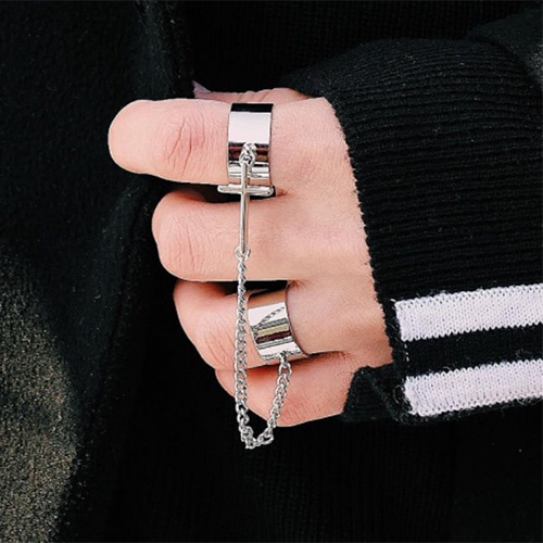 [하와] CROSS CHAIN JOIN RING