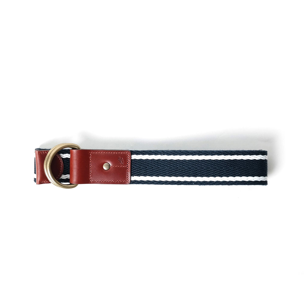 [반 브라운]Belt White Stripe