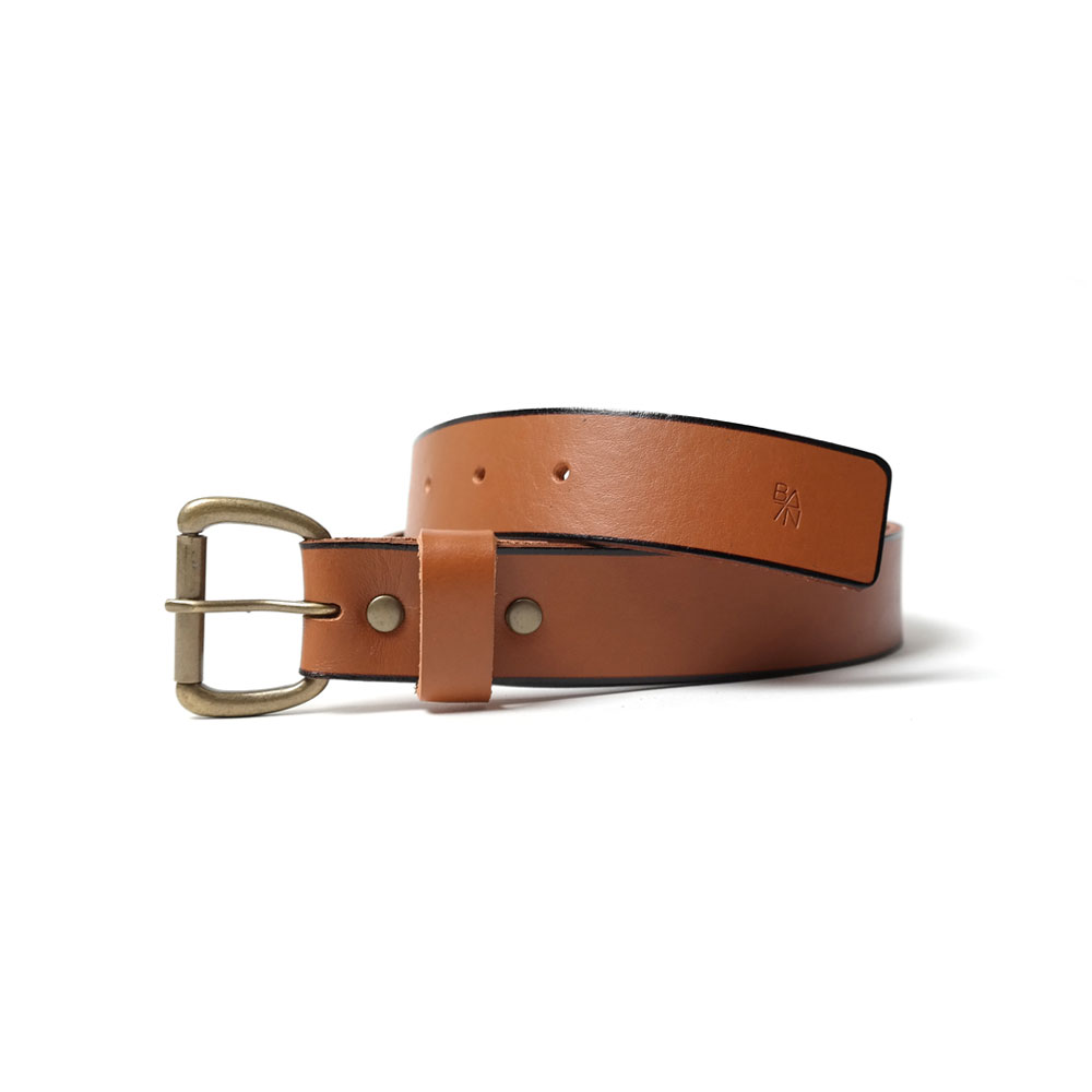 [반 브라운]Leather Belt Brown