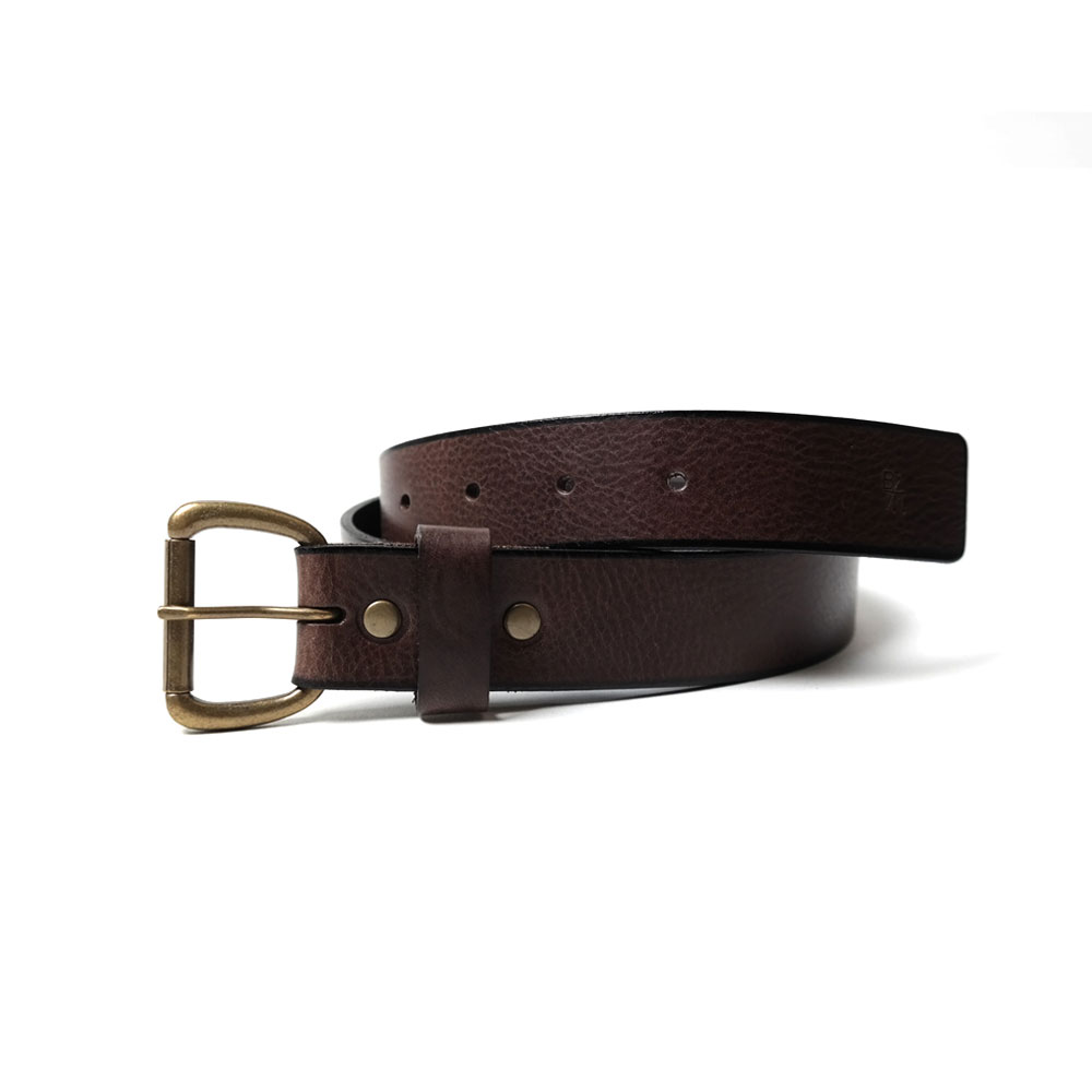 [반 브라운]Leather Belt Dark Brown
