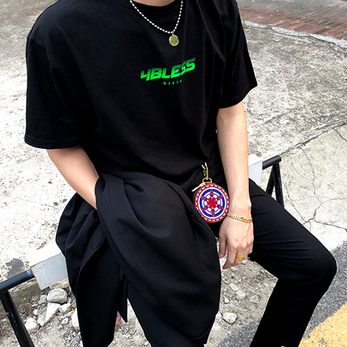 [4BLESS] Motion Logo T-shirts (Black/White/Blue)