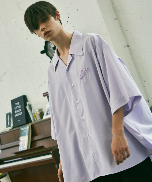 [에드]ADD SIGN AVANTGARDE OPEN COLLAR SHIRTS PURPLE