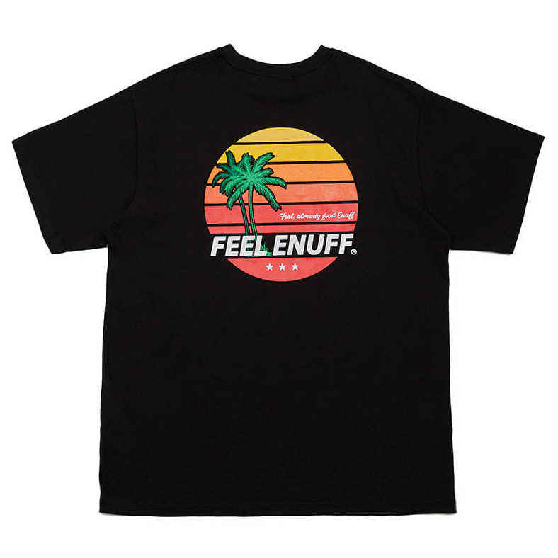 [필이너프]SUNSET T-SHIRTS BLACK