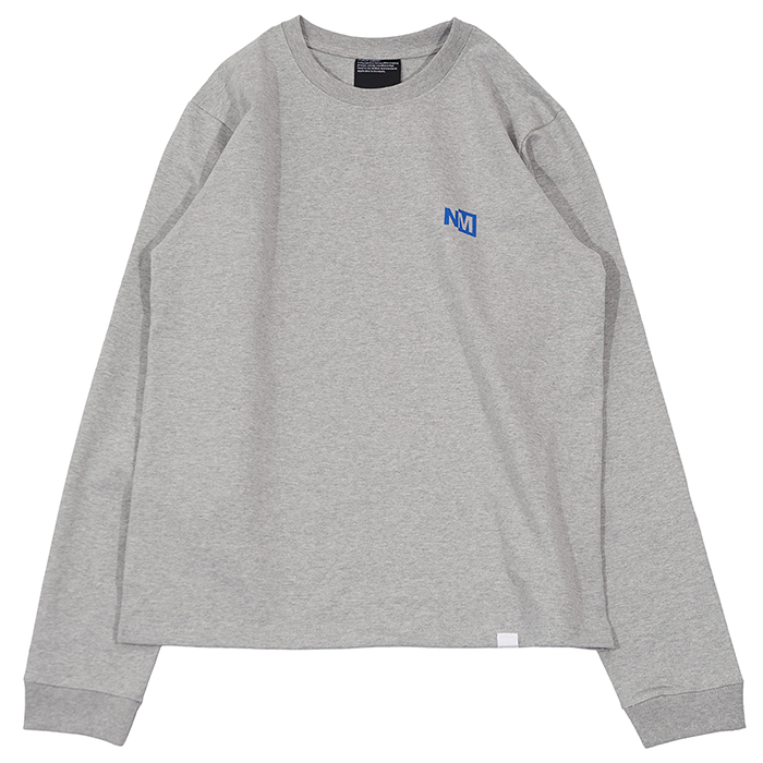 [노매뉴얼]NM LOGO LONG SLEEVE TEE - GREY
