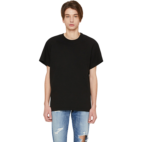 [랩 101]LI1WTS09BK BLACK RAGLAN SHORT SLEEVE T-SHIRTS