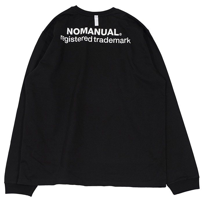 [노매뉴얼]NM SLOGAN LONG SLEEVE TEE - BLACK