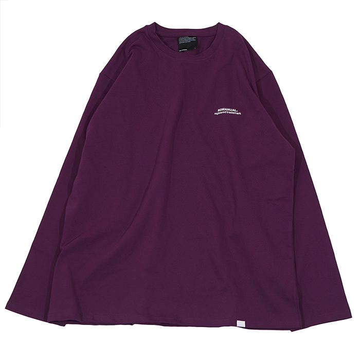 [노매뉴얼]TM LOGO LONG SLEEVE TEE - PURPLE
