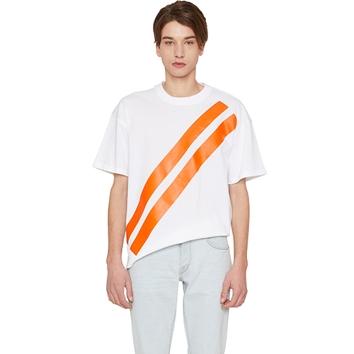 [랩 101]LI1WTS06OR ORANGE FREEDOM STRIPE T-SHIRTS