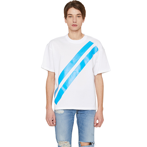 [랩 101]LI1WTS06BL BLUE FREEDOM STRIPE T-SHIRTS