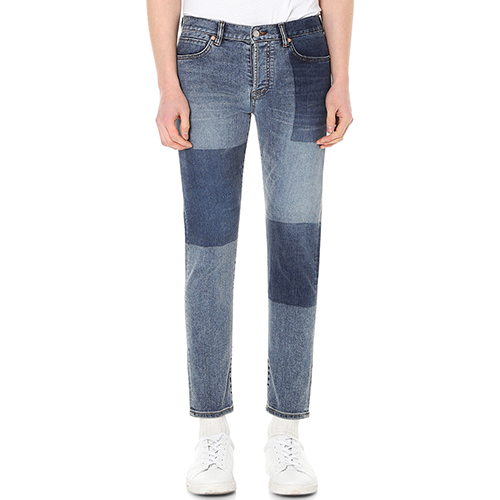 [랩 101]LI1DBC53MBBEN CROP MID BLUE BLOCK WASHING