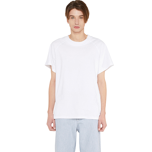 [랩 101]LI1WTS09WH WHITE RAGLAN SHORT SLEEVE T-SHIRTS