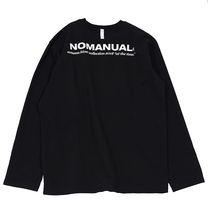 [노매뉴얼]TM LOGO LONG SLEEVE TEE - BLACK