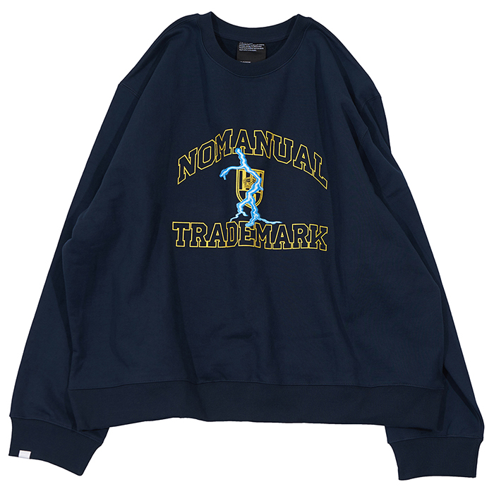 [노매뉴얼]ARCH LOGO SWEAT SHIRT - NAVY