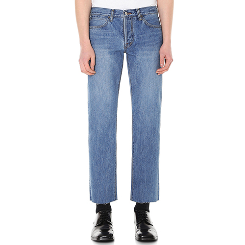[랩 101][정해인,박해진 착용] LI1DJC02MBJOHN CROP MID BLUE REPRODUCTION 101 WASH