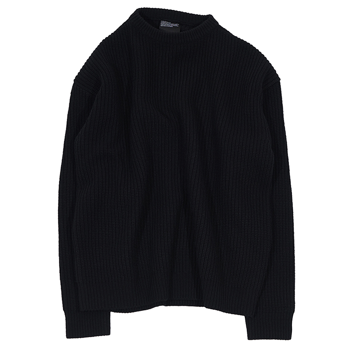 [노매뉴얼]NM PLAIN LAMBSWOOL KNIT - BLACK