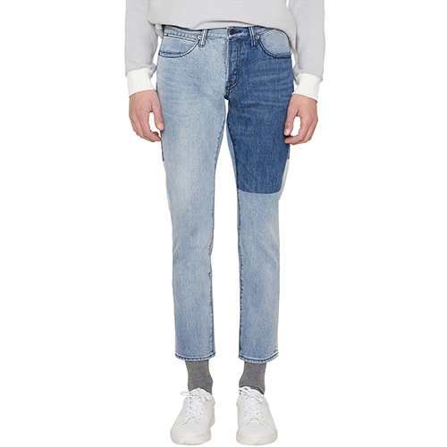 [랩 101]LI1DBC22LB BEN CROP LIGHT BLUE SIDE SEAM INDIGO BLOCK